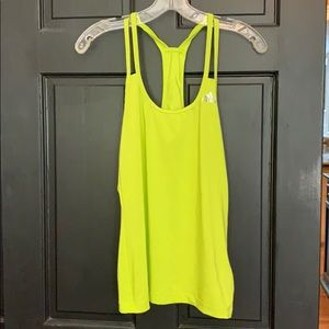 Adidas neon green athletic tank top small